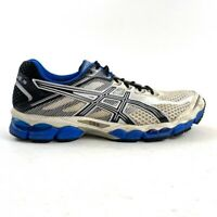 ASICS Gel-Cumulus 15 Mens Size 11 Running Shoes White Blue Black Sneakers T3C0N