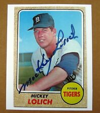1968 Detroit Tigers World Series MVP Mickey Lolich enlarged 8 x 10 Topps Card