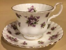 Royal Albert Sweet Violets Tea Cup and Saucer