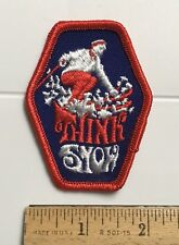 Think Snow Wintertime Downhill Skier Skiing Ski Outdoors Embroidered Patch Badge