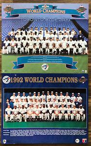 (2) Toronto Blue Jays World Series Champions Posters Back 2 Back Team Baseball