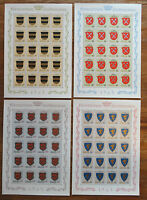 Liechtenstein 450 - 453 ** sauber postfrisch Bogen Satz MNH Wappen