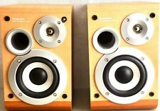 Technics SB-HD505 Vintage Brown Shelf Speakers 2 way 60 watts Tested and Working