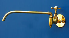 Vintage Pot Filler Tap - Brass - Wall Mounted - Faucet - Shanks - Filter