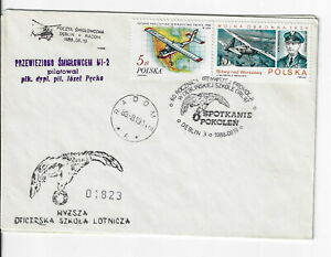 Poland, Aerospace cover. 1988 60th anniv. of flying generations.cxls (PA42)