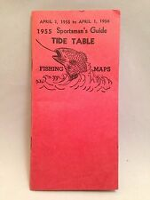 Sportsman's Guide and Tide Table Fishing Maps from 1955 California