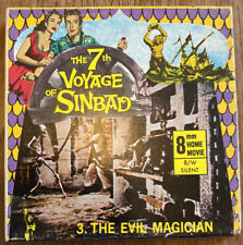 "Vintage ""7th Voyage of Sinbad"" 8mm Cine Film Reel ""The Evil Magician"" 200ft B&W"