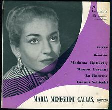 MADAMA BUTTERFLY, MANON LESCOT, BOHEME, GIANNI SCHICCHI # MARIA MENEGHINI CALLAS