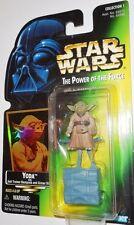 STAR WARS power of the force 1995 1997 YODA green hologram card moc POTF jedi