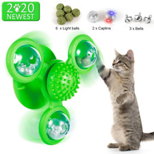 New listing Windmill Cat Toy with Led light Balls and Catnip Interactive Cat Toy