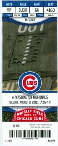 2011 Cubs vs Nationals Ticket: Michael Morse, Jonny Gomes & Starlin Castro HRs