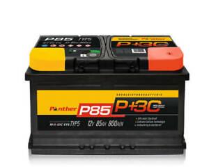 Autobatterie Starterbatterie Panther Black Edition +30%  12V 85Ah 800A P+85