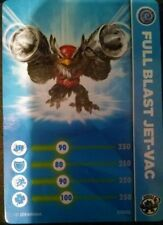 Full Blast Jet-Vac Skylanders Trap Team Stat Card Only!