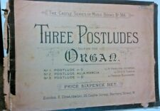 three postludes for the organ