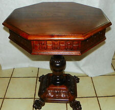 Mahogany Carved Center Table / Parlor Table Attirbuted to Thomas Day  (T526)