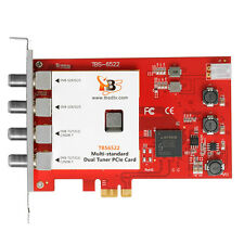 TBS6522 DVB-S2X/S2/S/T2/T/C2/C/ISDB-T Dual Tuner PCIe Digital TV Tuner Card