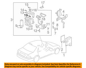 Acura HONDA OEM RL ABS Anti-Lock Brake System-Control Module Cap 43353SD5003