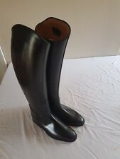 Konig long leather riding boots uk 4  black