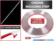 10MMx15M CHROME STYLING MOULDING TRIM STRIP SELF ADHESIVE - METRE METER WINDOW