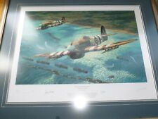 More details for framed anthony saunders return of the hunters ww2 aviation print