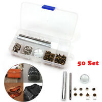 50 Set 8mm Snap Fastener Buttons Canvas Leather Tool Press Stud Rivet Buttons AU