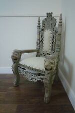 Children's Lion King Throne Chair - Hand Carved - Mini Throne Chair