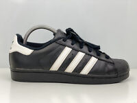 Adidas Superstar Foundation Mens Black Leather Trainers UK Size 6