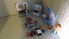 Playmobil 5322 Nostalgie Küche Puppenhaus 5300 Figuren Herd Tisch Stühle