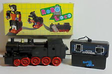 VTG 80's AUTO CHANGE ROBO-LOCO TRAIN ROBOT TRANSFORMER WIRED R/C MIB NOT WORKING