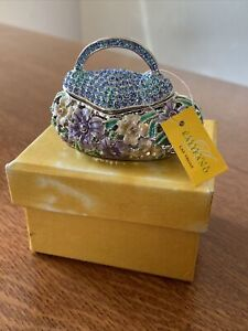 Alexander Kalifano Purse Trinket Box with Swarovski Crystals