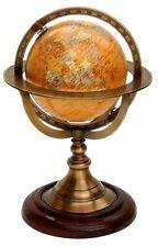 Nautical Brass Armillary Tabletop Marine Sphere World Globe Nautical World Globe