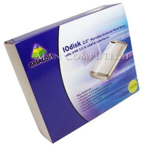Iodisk 250GB Tragbarer USB Esata HDD AMA-IOD250000-B2N Harte Dri