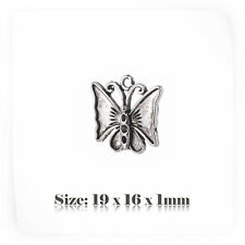 10 Tibetan Silver Antique Vintage Style Butterfly Charms Pendant Steampunk 080s