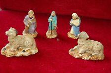 Anciens santons de Noel, pour crèche de la nativité,joseph marie  french antique