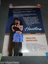 HEATHERS - ORIGINAL SS ROLLED POSTER - WINONA RYDER - 1988