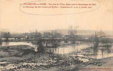 VILLENEUVE  sur YONNE - vue prise de l' usine, après la décroissance des eaux