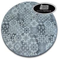 Modernen langlebig Teppich MAIOLICA Kreis Lisboa Patchwork grau beste Qualität