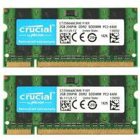4GB 2x 2GB Kit Dell Vostro 1510 1520 1700 1710 1720 2510 DDR2 Laptop RAM Memory