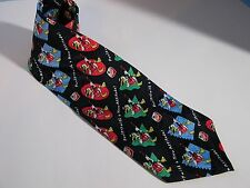 MAPLE LEAF FARMS POULTRY WITH A NEW ATTITUDE CHICKENS 100% SILK TIE NECKTIE