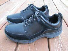HUSH PUPPIES ORIGINAL BODY SHOE men's black leather walking oxfords SIZE 8 W