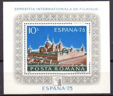 Rumänien sheet 119 (3257) MNH Int. Briefmarkenausstellung ESPANA 75  230