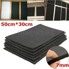 6 Sheets 7mm Car Sound Proofing Deadening Vehicle Insulation Closed Cell Foam