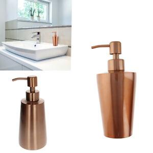 350/400ML Stainless Steel Pump Soap Lotion Dispenser Bottle Bathroom Kitchen