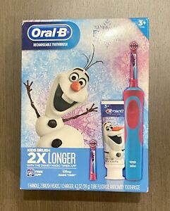 Oral-B Rechargeable Toothbrush Kids Disney Frozen Gift Pack New w/ charger 3+