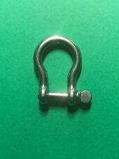 "Stainless Steel 316 Bow Shackle 5/32"" (4mm) Marine Grade"