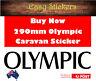 290mm Olympic Caravan Sticker Quality Replacement Repair Decal Vintage Retro RV