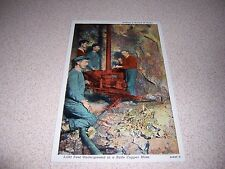 1930s MINERS DRILLING HOLES UNDERGROUND BUTTE COPPER MINE MT. LINEN POSTCARD
