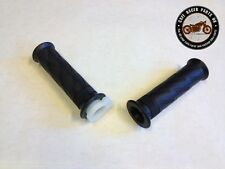 "Cafe Racer Motorcycle Black Rubber Vintage 7/8"" Handlebar Grips With Throttle"