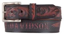 Harley-Davidson Men's Freedom Eagle Genuine Leather Belt, Black/Brown HDMBT11447