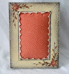 Repurposed Wooden Picture Photo Frame Jewelry Holder Pincushion 5x7
